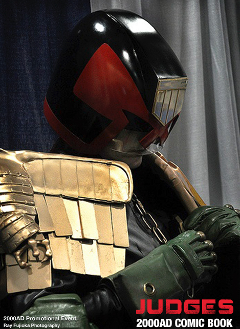 judge dredd impersonator