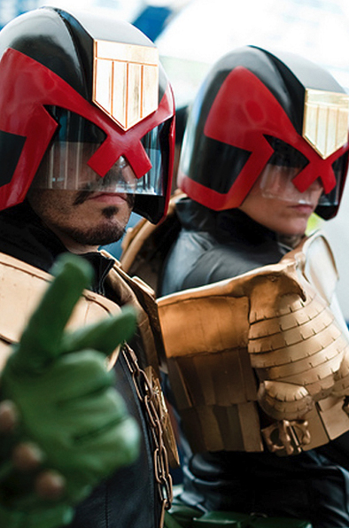 judge dredd lookalike