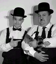 Laurel and Hardy Lookalike