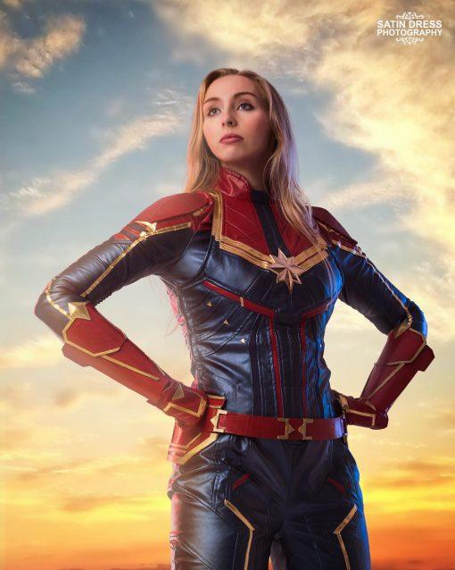 Captain Marvel Lookalike