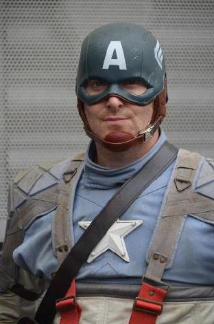 captain america lookalike