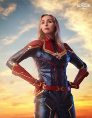 Captain Marvel Lookalike